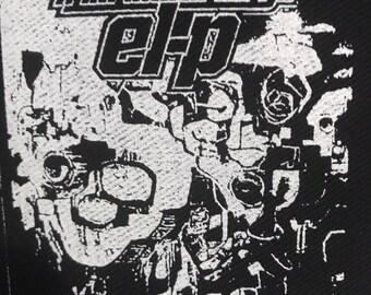 El-p Fantastic Damage serigrafato Hip Hop Punk Patch fai da te af1437d0dedd