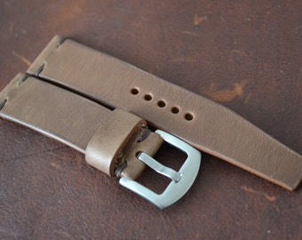 20/18 Handmade Horween Leather Watch Strap Custom Made by NeptuneStraps