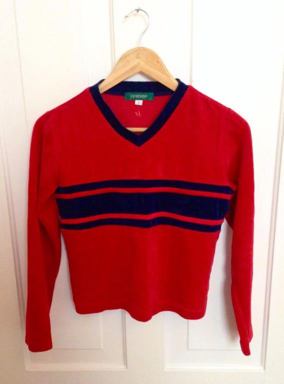Vintage 1970s Velour Sweater