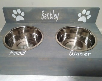 Personalized Pet Dish, Rustic Pet Dish, Pet Dish, Dog Dish, Cat Dish, Pet lover Gift, Animal Bowls, Food and Water Dishes