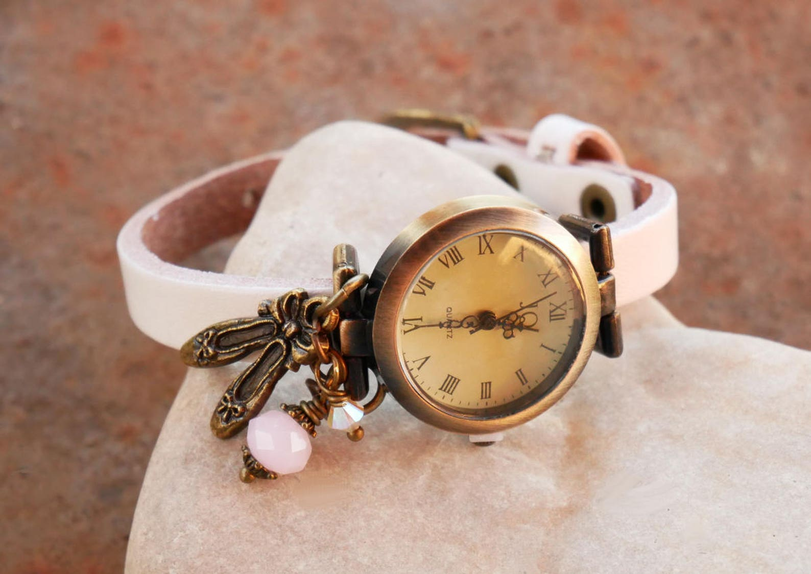 girl teen watch / dance ballet shoes / leather bracelet / girl teen gift