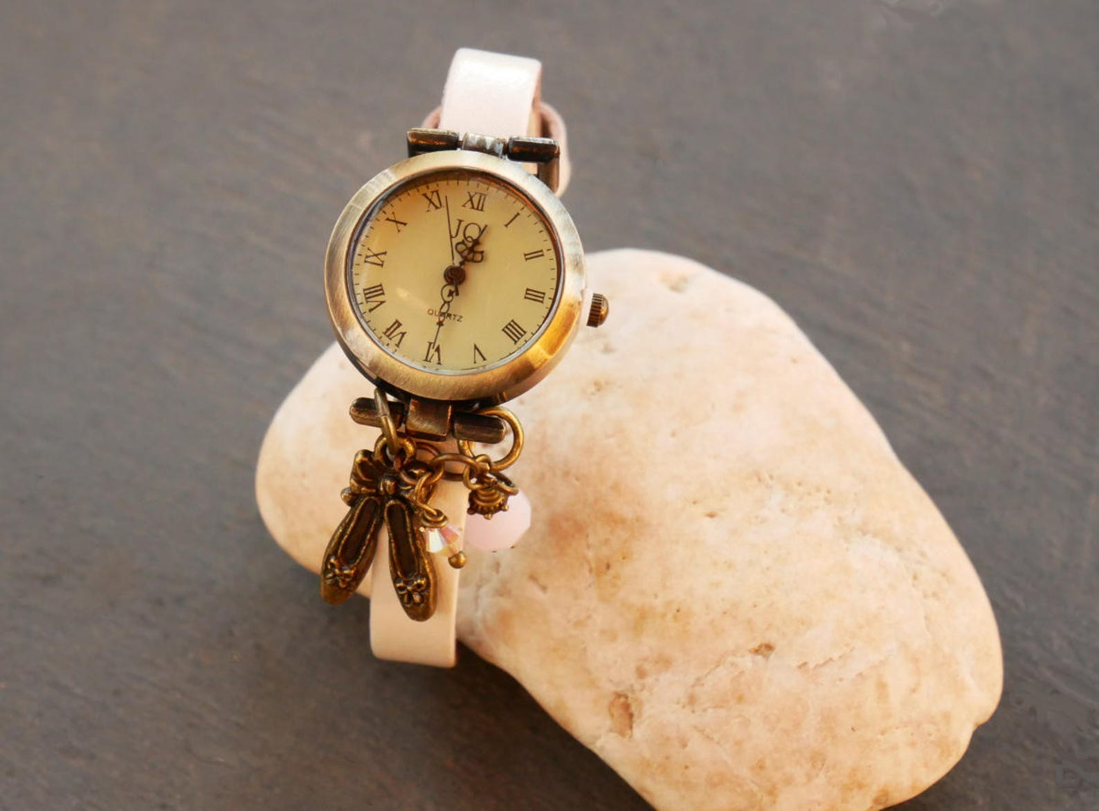 girl teen watch / dance ballet shoes / leather bracelet / girl teen gift