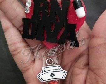 RN Diva Id Badge Reel