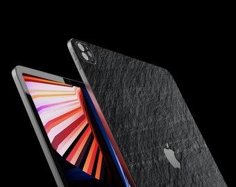 "New iPad 12.9 M1 2021 5.th Gen.  Slate Stone Skin and Cover ""Black Rock"" - handmade from real stone in Germany ROXXLYN"