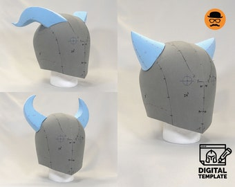 DIY Universal helmet No1 (3in1) template for EVA foam