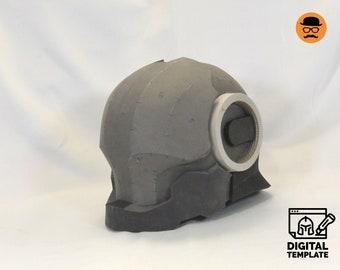 DIY Cyborg No3 helmet templates for EVA foam