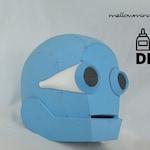 DIY RAGE2 inspired robot helmet templats for EVA foam