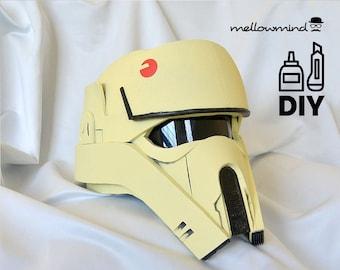 DIY Rogue One: A Star Wars Story - Shoretrooper helmet templates for EVA foam