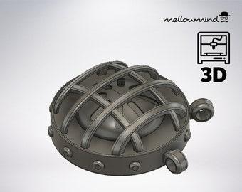 DIY Monster Hunter World: Round scoutflies lantern 3D model for 3D printing