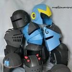 Variouse raw EVA foam test helmets - fully wearable