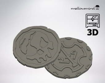 DIY Sea of Thieves: pirate coins 3D model for 3D printing