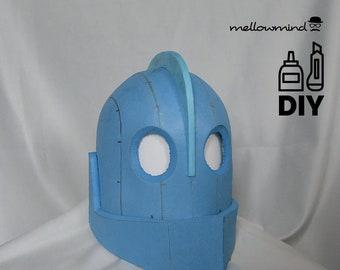DIY Iron Giant helmet template for EVA foam