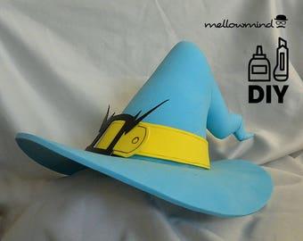 DIY Overwatch - Mercy Halloween helmet template for EVA foam