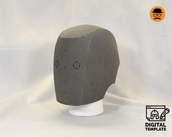 DIY Basic helmet No2 template for EVA foam