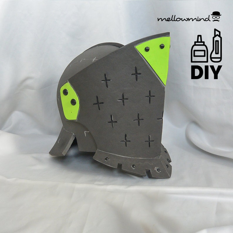 DIY For Honor: Lawbringer helmet templats for EVA foam image 0
