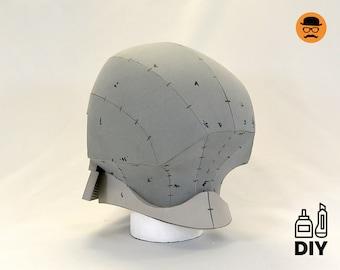 DIY Cyber Samurai helmet No1 templats for EVA foam