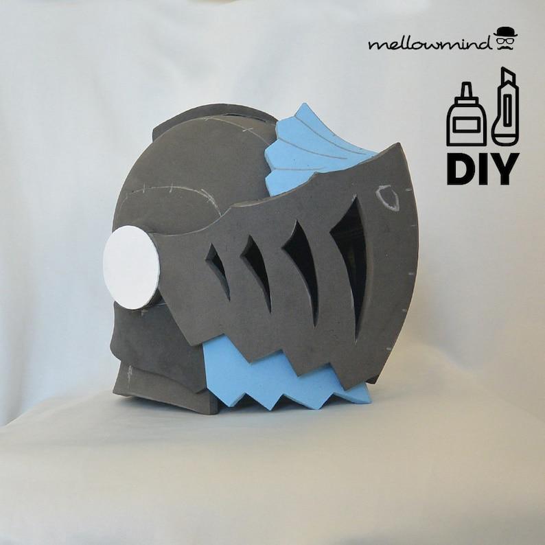 DIY MHW Anjanath helmet templats for EVA foam image 0