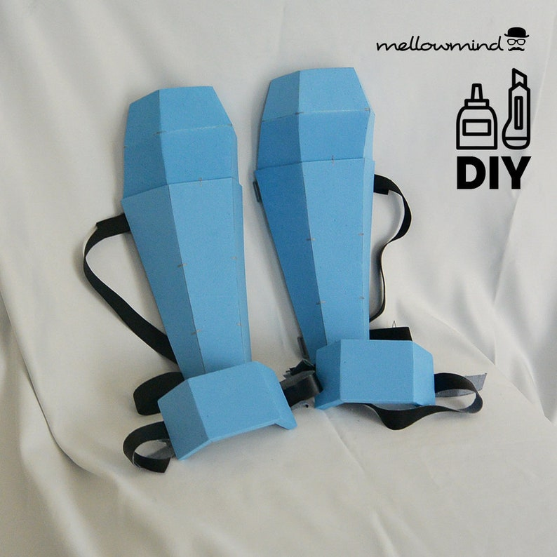 DIY Basic shin guards & boot guards templates for EVA foam image 0
