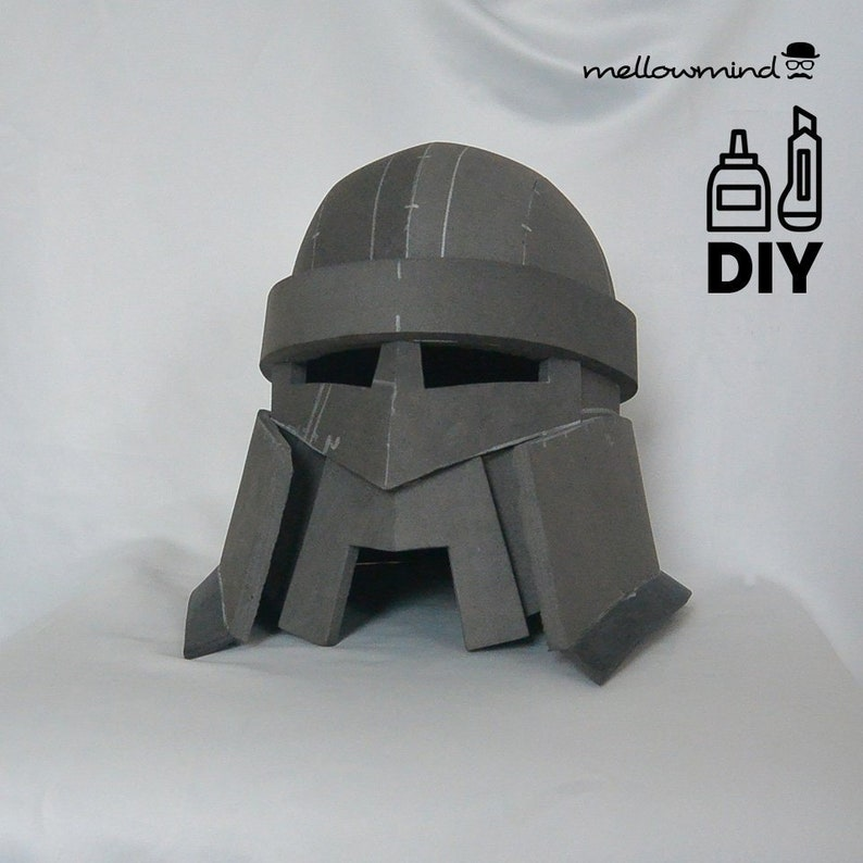 DIY basic dwarf helmet templats for EVA foam image 0