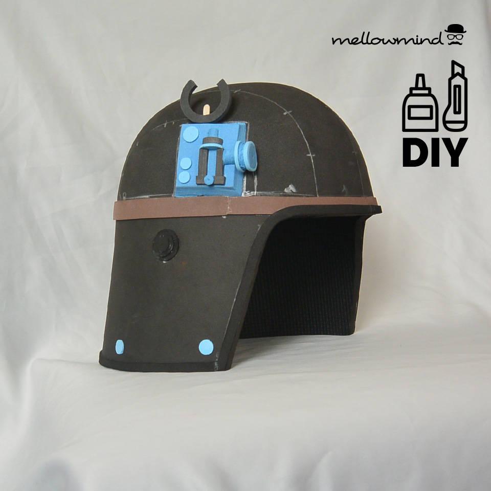DIY Star Wars ATST Driver helmet template for EVA foam