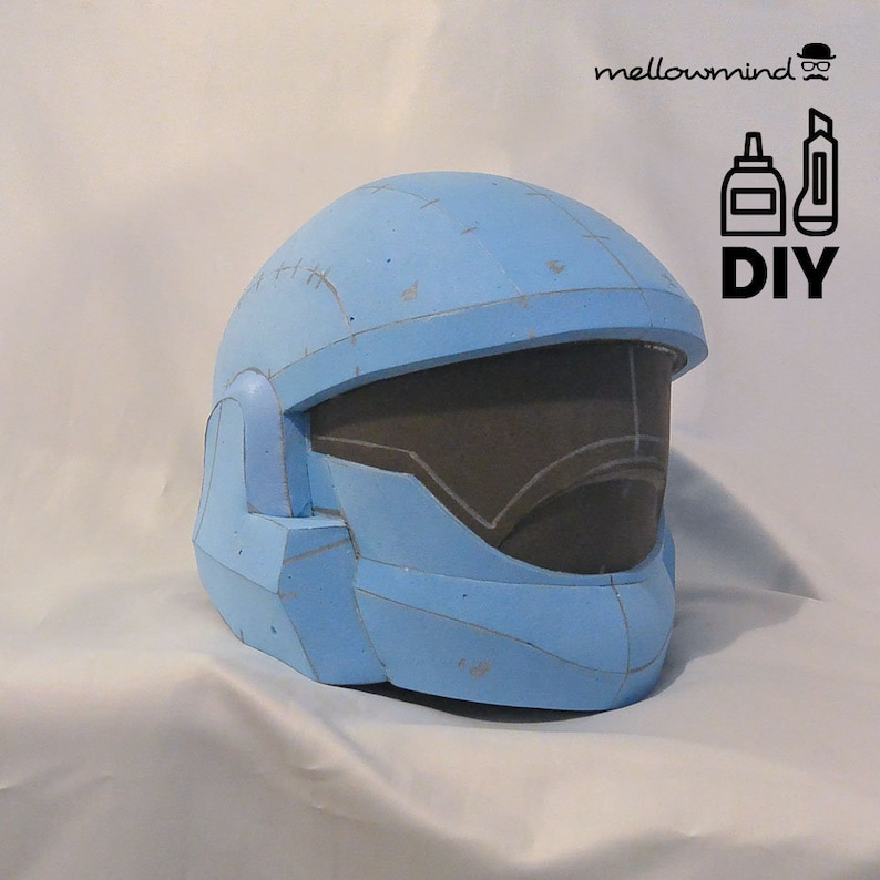 DIY HALO inspired helmet templats for EVA foam image 0