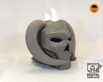 DIY Skull-face helmet No1 template for EVA foam