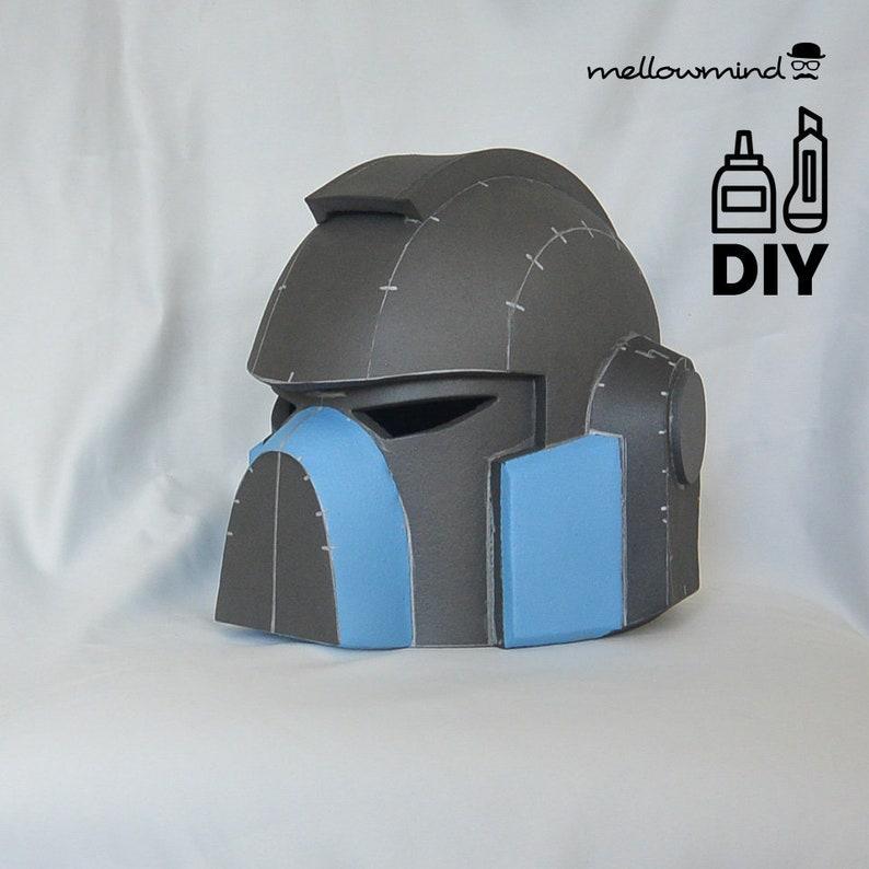 DIY Warhammer 40K  Space Marine helmet template for EVA foam image 0