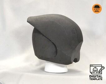 DIY Invader No1 helmet template for EVA foam