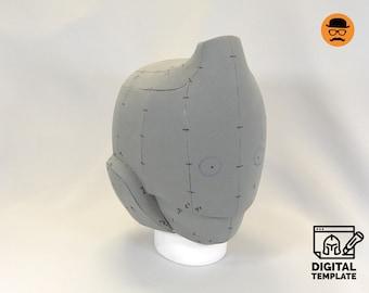 DIY Bio helmet No1 templats for EVA foam