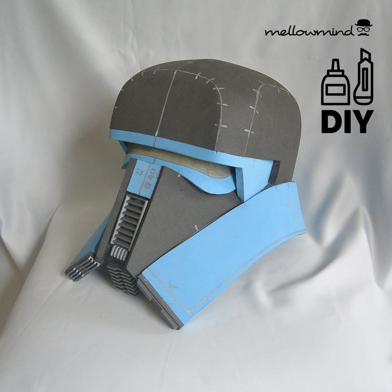 DIY Solo A Star Wars Story  Range Trooper helmet template for image 0