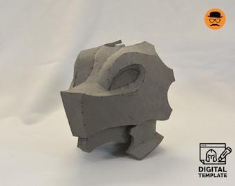 Dragon Head helmet 2in1 templates for EVA foam