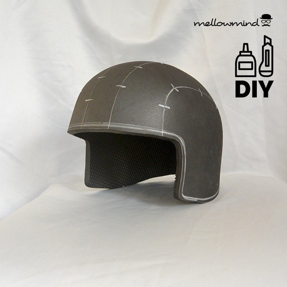 Foam Helmet Template | Basic Army Helmet Template For Eva Foam Etsy
