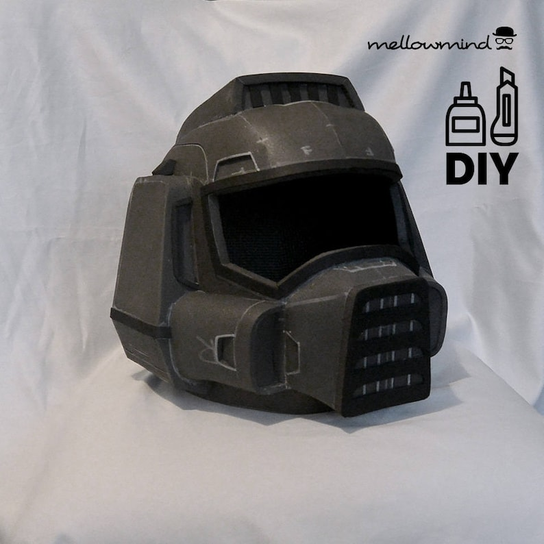 DIY DOOM guy helmet template for EVA foam image 0