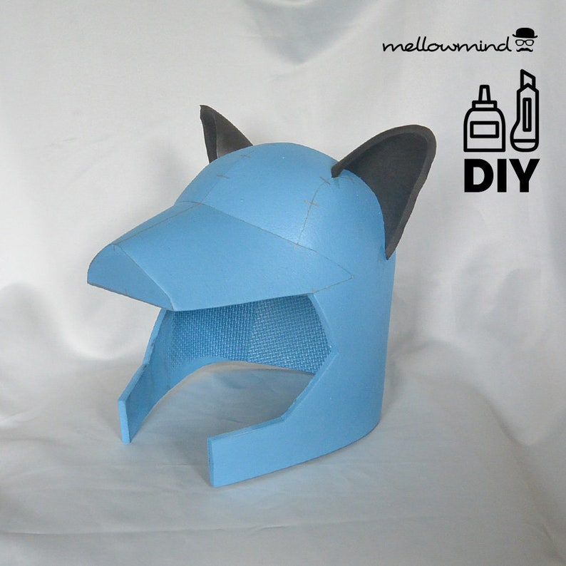DIY Wolf Warrior helmet template for EVA foam image 0