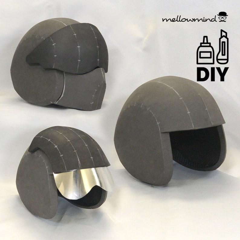 DIY Figter Pilot helmet template 2in1 for EVA foam image 0