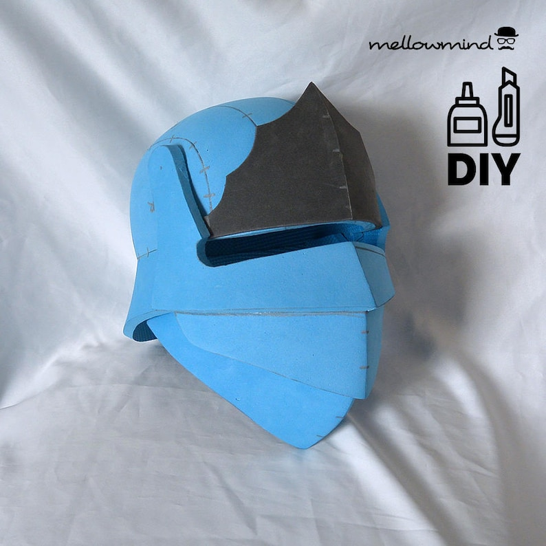 DIY Squire knight helmet template for EVA foam image 0