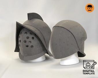 DIY Gladiator No2 helmet (2in1) template for EVA foam
