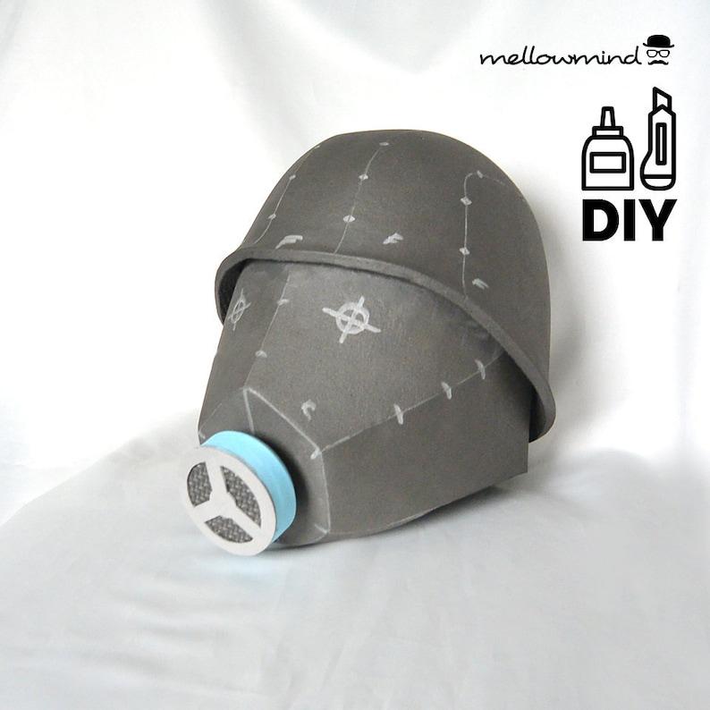 DIY Army full head helmet with respirator templates for EVA image 0