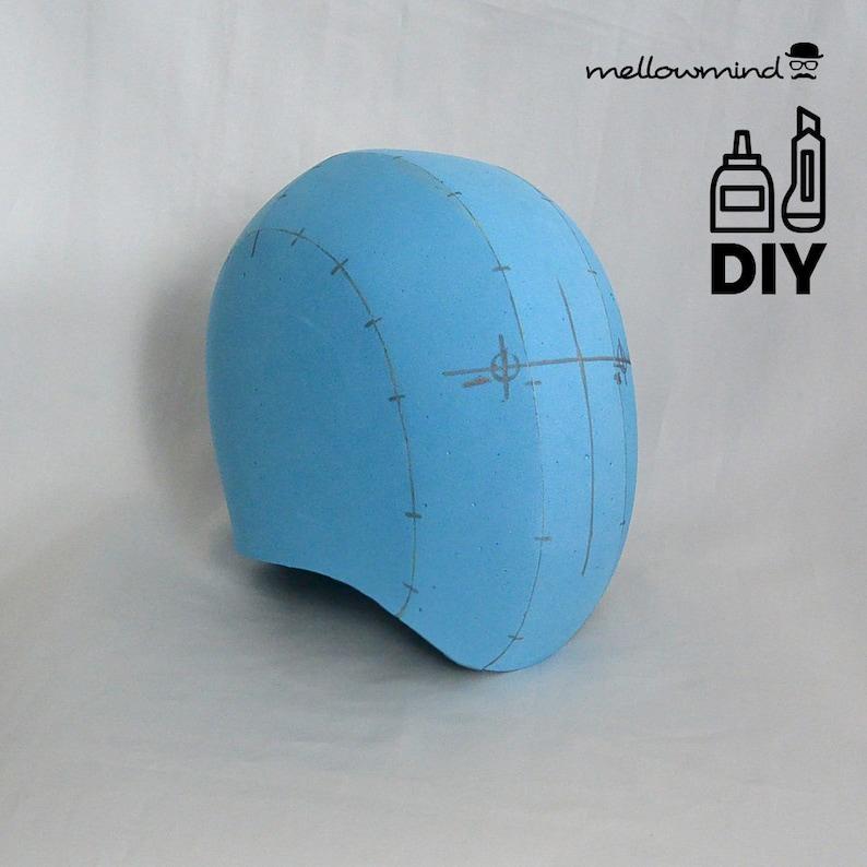 DIY Basci Head helmet with optional visor templat for EVA foam image 0