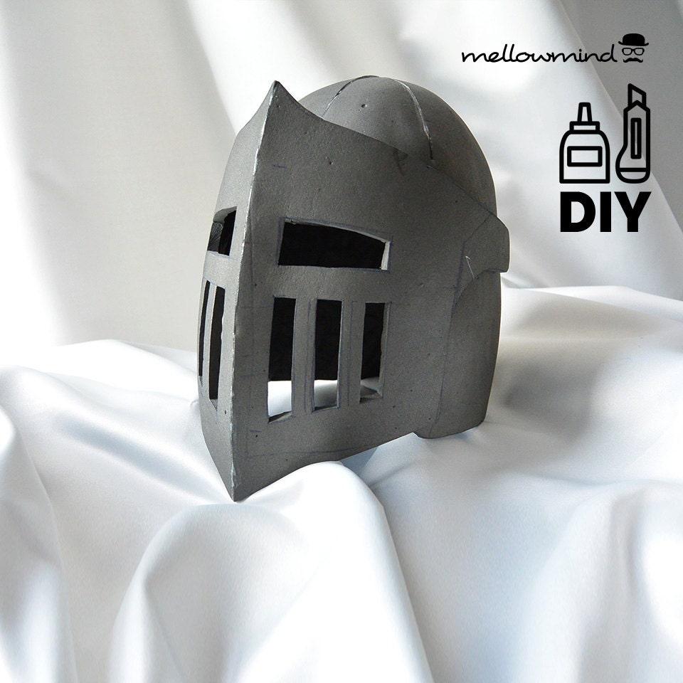 Diy Knight Helmet Template For Eva Foam Version B Etsy