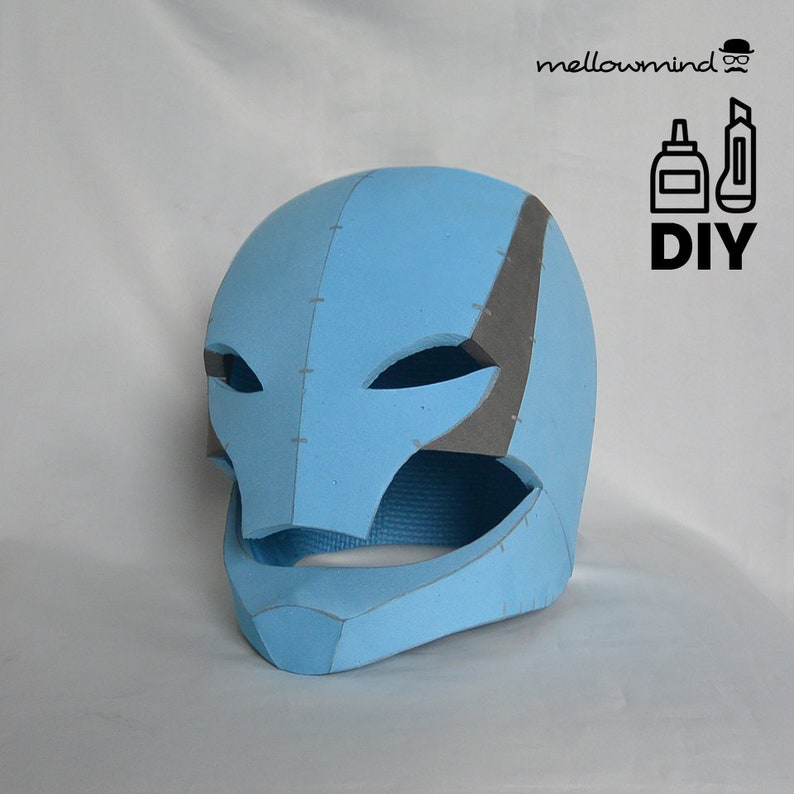 DIY robot helmet templats for EVA foam image 0