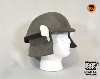 DIY Japanese warrior helmet No1 templates for EVA foam