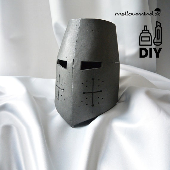 diy knight helmet template for eva foam version a etsy