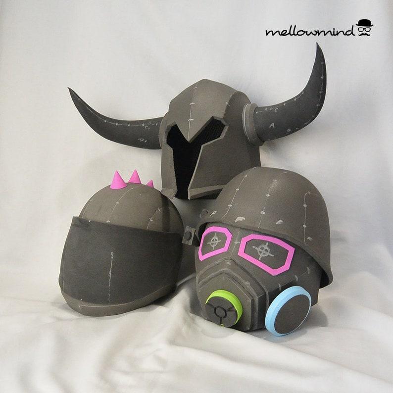 Variouse raw EVA foam test helmets  fully wearable image 0