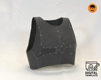 DIY Upper chest armor No3 templats for EVA foam