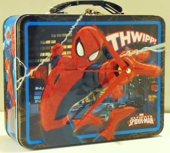 Spider Man Lunch Box Clock