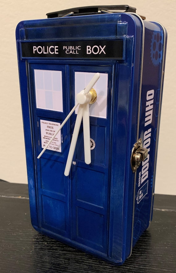 "Dr. Who ""TARDIS""  Lunch Box Clock"