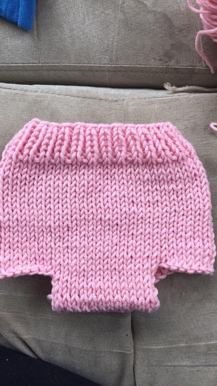 Knit diaper cover