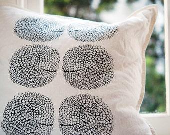 """Pollen print on a 20x20"""" linen pillow cover"""