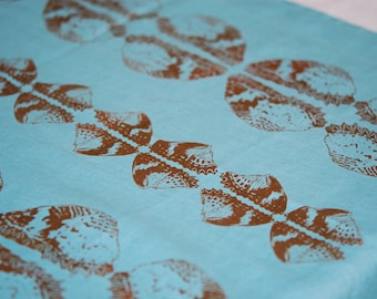 """Butterfly Print on 18x59"""" linen table runners"""